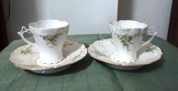 Par De Tazas Porcelana Antigua