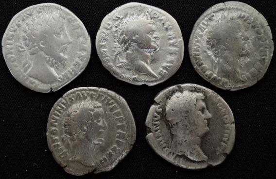 Lote 5 Denários Prata Império Romano Classificados