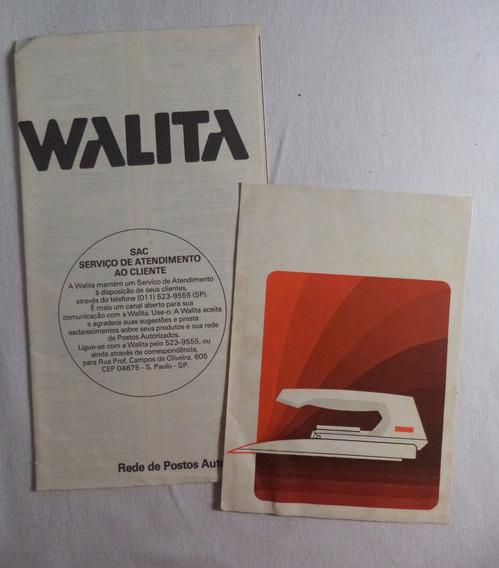 Walita Ferro De Passar Propaganda Antiga