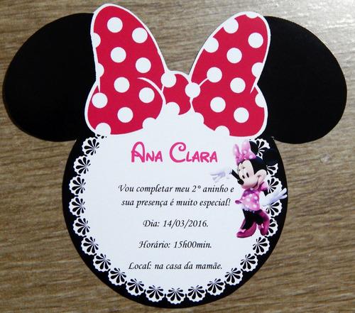 Imagem 1 de 1 de Convite Da Minnie Rosa 30 Unid