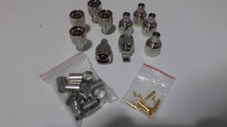 Conector N Macho Para Rgc213 - Lote Com 5 Pçs