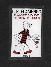 C.r. Flamengo - Plastico Para Vidro Interno- 1963