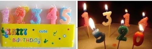 Velas Numericas 0 Al 9 Completa Feliz Cumpleaños