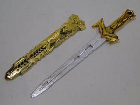 Espada & Bainha Dourada Fantasia Infantil Soldado Medieval