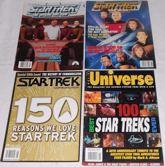 Star Trek Communicator Lote Especiais 4 Revistas Importadas