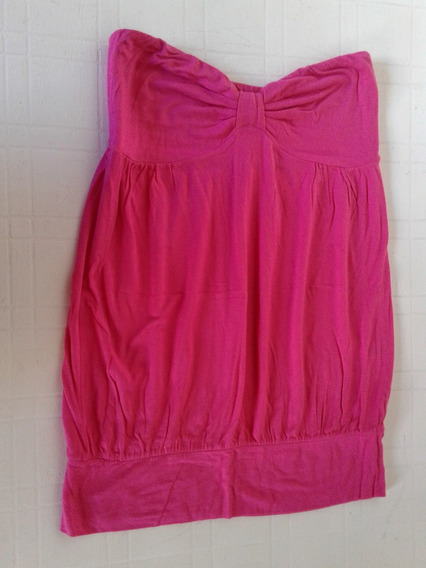 Top Strapless Ona Saez Fuxia Talle L Impecable!
