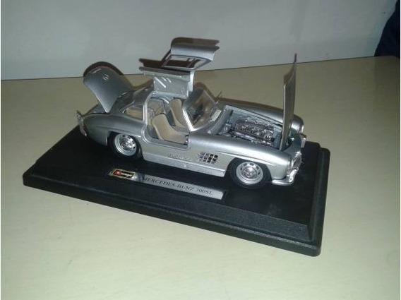 Linda Miniatura Bburago Mercedes Benz 300 Sl Asas De Gaivota