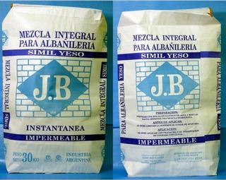 Mezcla Integral Simil Yeso J B - Bolsa De 30 Kg.