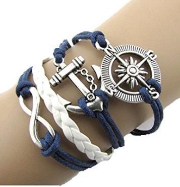 Bracelete Amor Infinito Azul Marinho - Glam0059