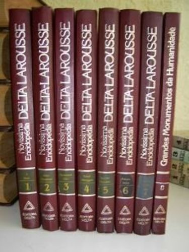 Novíssima Enciclopédia Delta Larousse - 8 Volumes