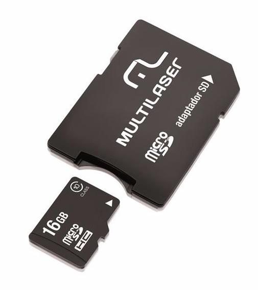 Adaptador Multilaser Sd + Cartao De Memoria Classe16gb-mc110