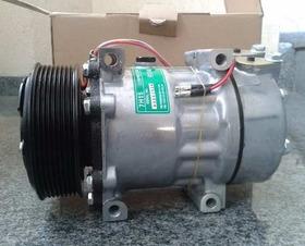 Compressor Ar Condicionado 7h15 Scania Volvo Polia 8pk 24v