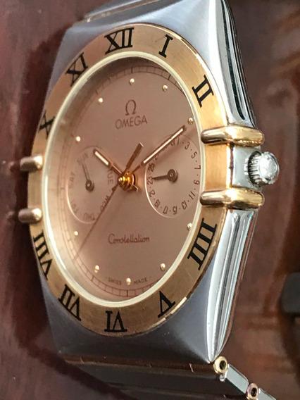 Relógio Omega Constellation Em Ouro-aço