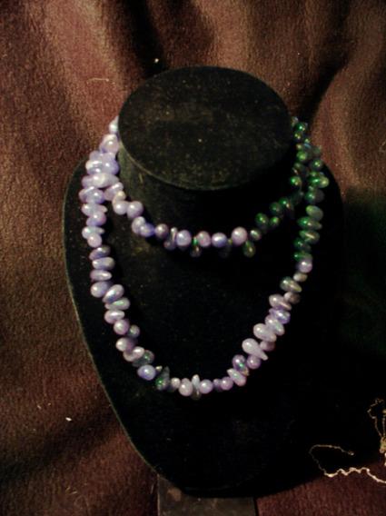 Hermoso Collar De Jade Morado