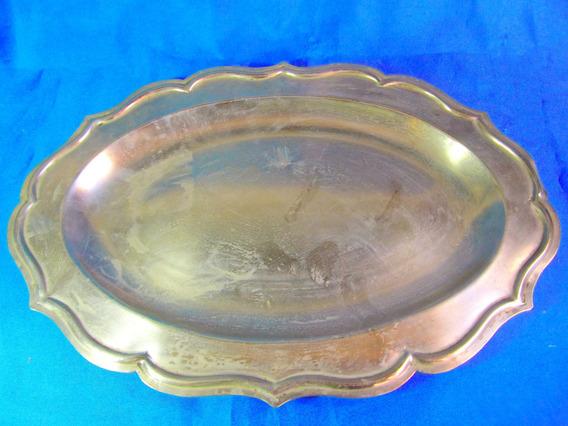El Arcon Antigua Bandeja Oval Baño Plata Silver Plate 26055