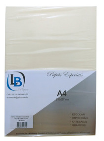 Papel Vergê A4 120g Pct C/ 200 Folhas (azul) - Lb