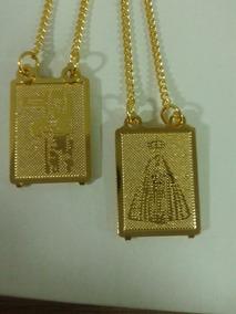 Escapulário Folheado A Ouro 18k Nossa Senhora Aparecida