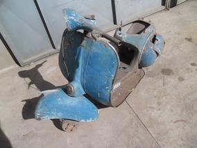 Vespa M3 1960 P/ Restaurar - Carcaça Com Documento Sem Motor
