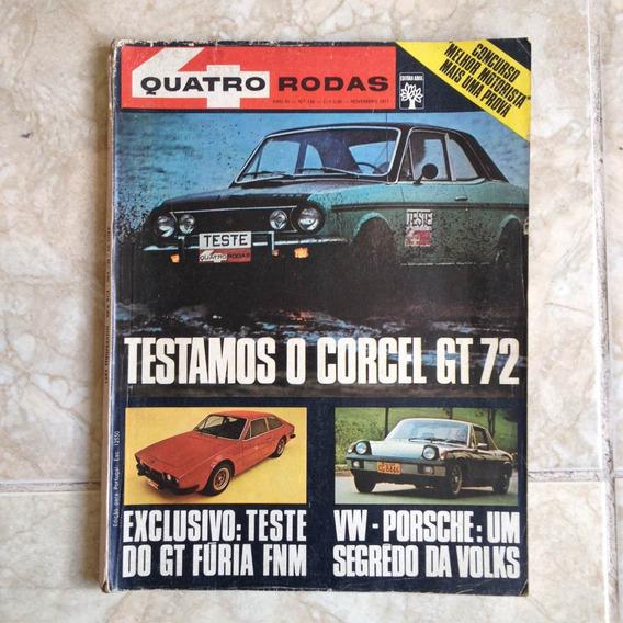 Revista Quatro Rodas Ano Xi N135 Nov1971 Corcel Gt 72 Plij