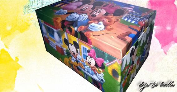 Cofre De Madera Mickey