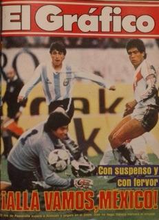 El Grafico Argentina Clasifica Para Mexico 86 Contra Peru