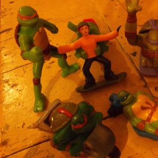 Tortugas Ninjas Lote De 5 Muñecos