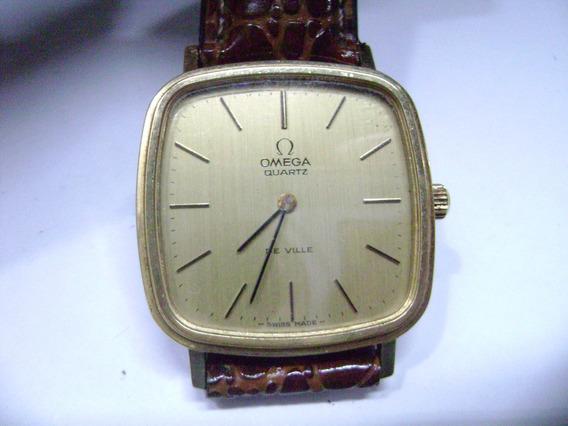 Clássico Relógio De Pulso Omega De Ville Quartzo