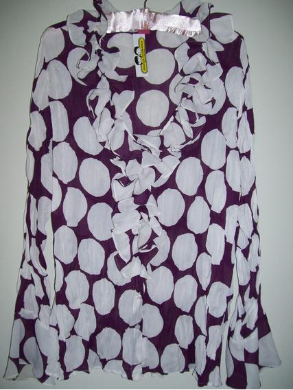 Camisa Mujer Gasa Importada Talle Especial