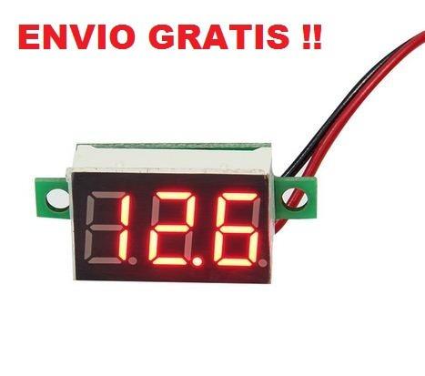 Voltímetro Digital0-30v Dcledautos Motos Panel Envio Gratis