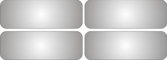 4 Adesivos Refletivos Segurança Capacete Moto 9 X 2,5 Cm
