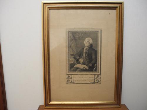 Retrato Muy Antiguo Sabio Español D. Jorge Juan 1713-1773