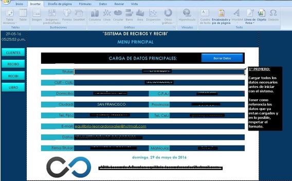 Sistema De Recibos Y Recibí (con Macros).