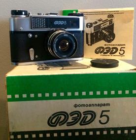 Câmera Fed 5 Com Lente 55mm F/2.8 Padrão Leica L39