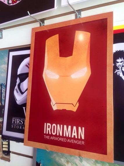 Quadro Homem De Ferro 33x45