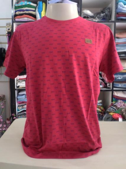 Camiseta Gangster - Estampa Mini - Vermelha