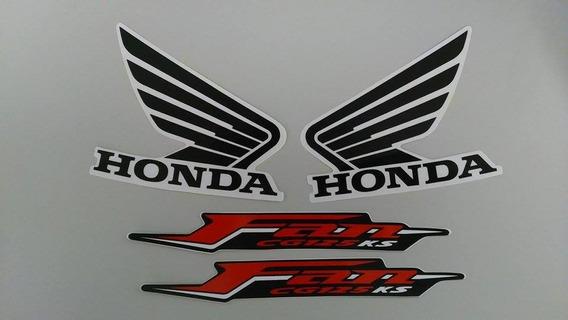 Kit Adesivos Honda Fan 125 2011 Ks Vermelha