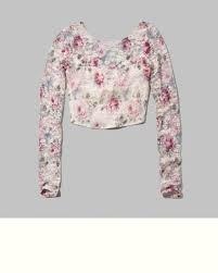 Blusa Abercrombie Feminina Floral M Original Importada
