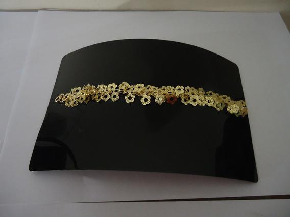 Pulseira Flores Delicadas 2 Modelo - Folheada A Ouro