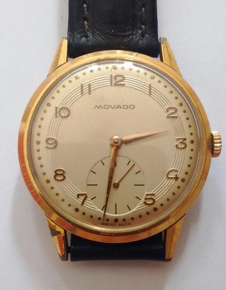 Relógio De Pulso Movado, Folheado A Ouro
