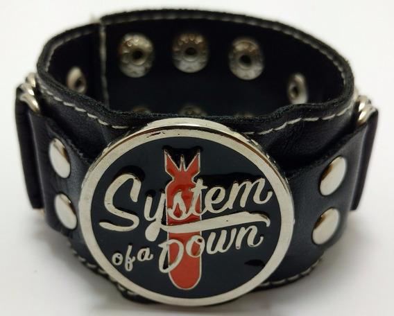 Bracelete Munhequeira Pulseira System Of A Down Menor Preço