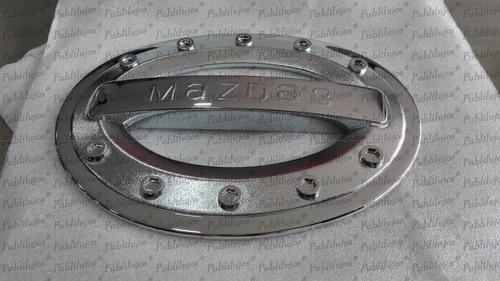 1 Cromo De Lujo Tapa Combustible Mazda 3 1 Pieza Foto Real