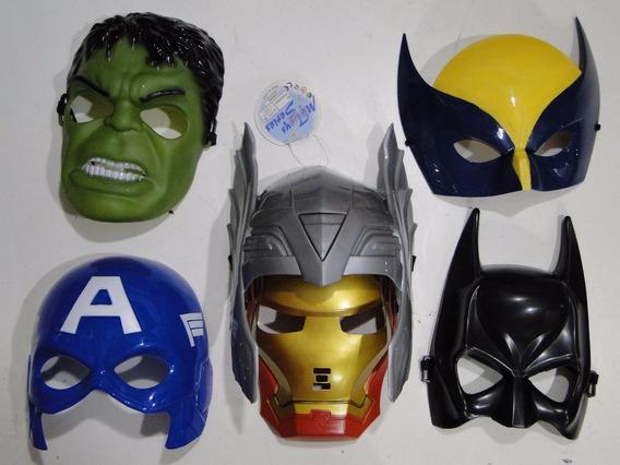 6 Mascaras Thor Hulk Ferro America Volverine Batman Avenger