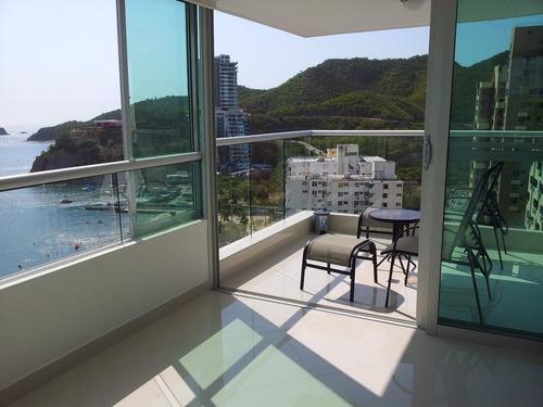 Imagen 1 de 6 de Apartamentos  Frente Al Mar Amoblados Por Dias. 3144144042