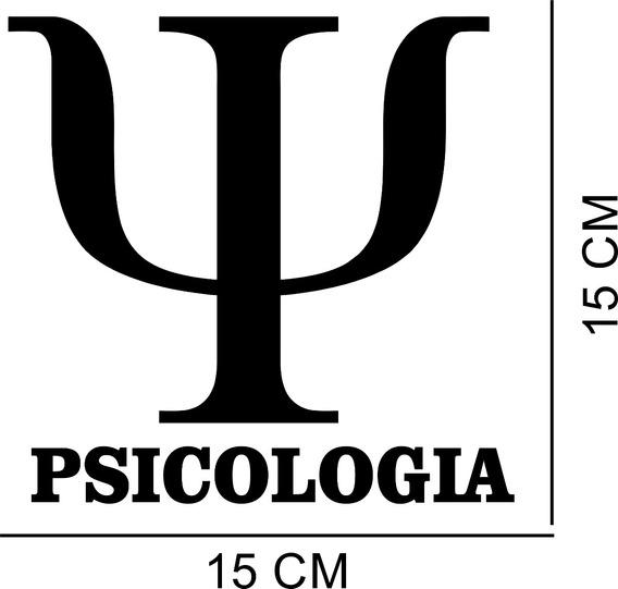 Adesivo Decorativo Carro Curso Psicologia Profissão
