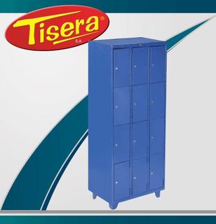 Locker 12 Puertas Metalico Tisera Cerradura Llave Bls-12