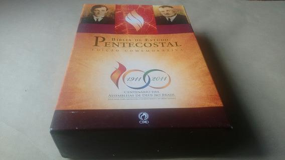 Bíblia Pentecostal Comemorativa 100 Anos Ad Média (rara)