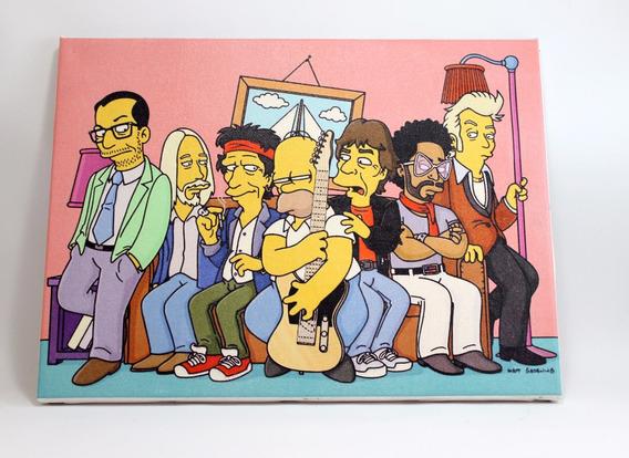 Quadro Simpsons Impressão Em Canvas