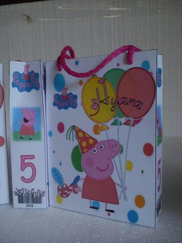 Imagen 1 de 5 de 12 Bolsitas De Papel De Pepa Pig