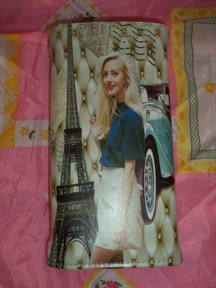 Cartera Billetera Tarjetero Chica D Moda Torre Eiffel Dama