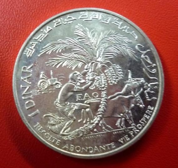 Tunez Moneda De Plata Conmemorativa De La Fao 1 Dinar 1970
